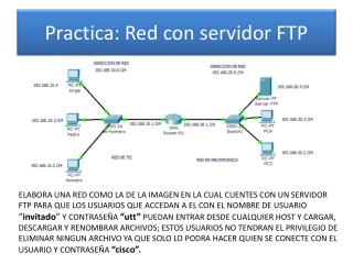 Practica: Red con servidor  FTP
