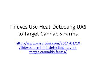Thieves Use Heat-Detecting UAS to Target Cannabis Farms