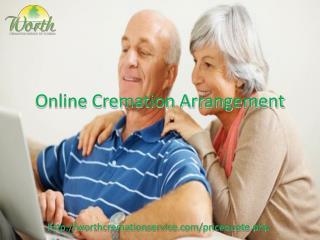 online cremation arrangement
