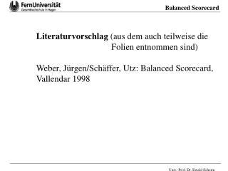 Literaturvorschlag  (aus dem auch teilweise die    Folien entnommen sind)