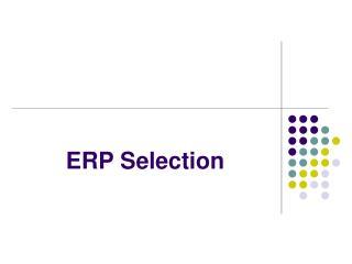 ERP Selection