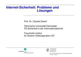 Internet-Sicherheit: Probleme und                                   Lösungen