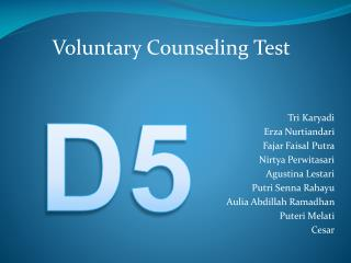 Voluntary Counseling Test