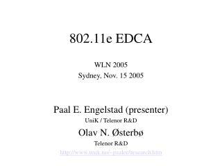 802.11e EDCA