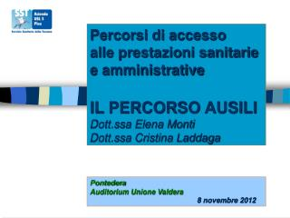 Pontedera Auditorium Unione Valdera 8 novembre 2012
