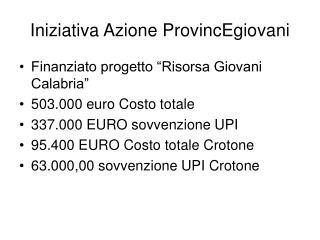 Iniziativa Azione ProvincEgiovani
