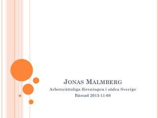Jonas Malmberg
