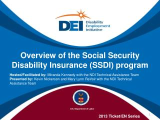 Overview of the Social Security Disability Insurance (SSDI) program