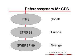Referenssystem f�r GPS