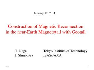 January 19, 2011  Construction of Magnetic Reconnection