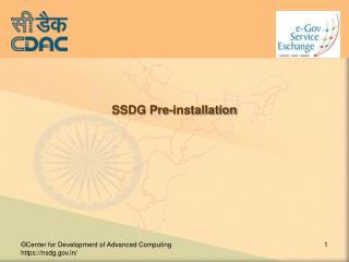 SSDG Pre-installation