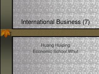 International Business (7)