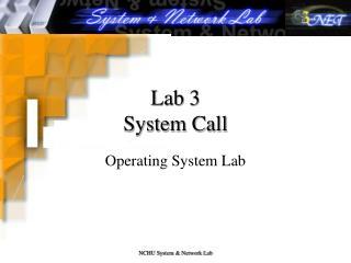 Lab 3 System Call