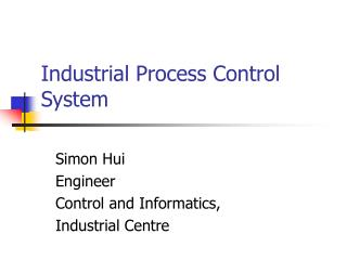Industrial Process Control System