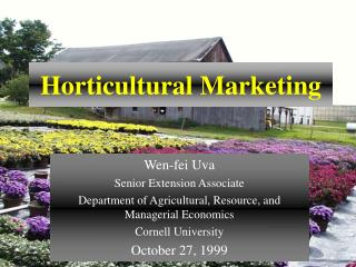Horticultural Marketing