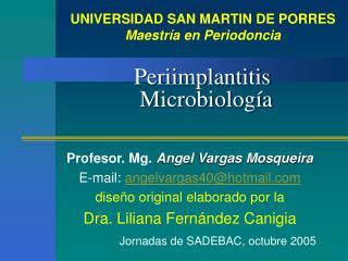Periimplantitis Microbiología