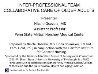 INTER-PROFESSIONAL TEAM COLLABORATIVE CARE OF OLDER ADULTS