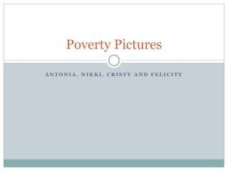Poverty Pictures
