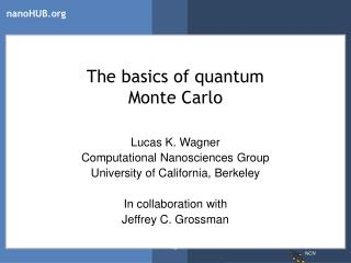 The basics of quantum  Monte Carlo