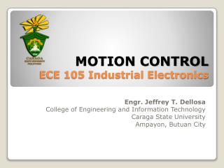 MOTION CONTROL ECE 105 Industrial Electronics