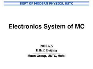 Electronics System of MC 2002.6.5 IHEP, Beijing ___________________________________________