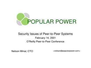 POPULAR POWER