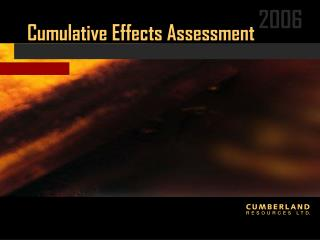 Cumulative Effects Assessment