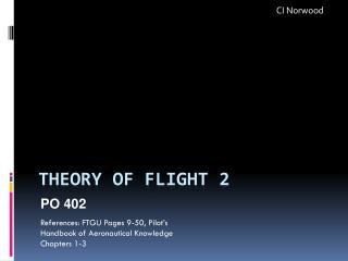 Theory of Flight 2