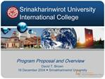 Srinakharinwirot University International College