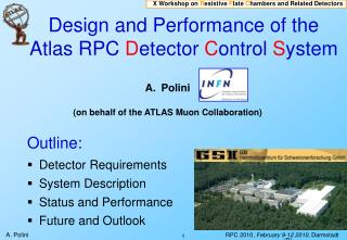 Design and Performance of the Atlas RPC  D etector  C ontrol  S ystem