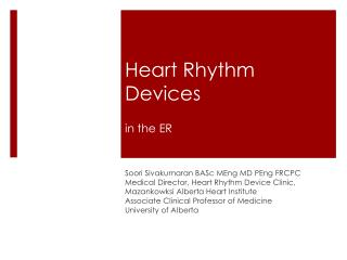Heart Rhythm Devices