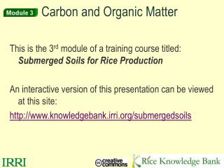 Carbon and Organic Matter
