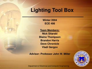 Lighting Tool Box