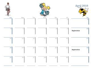 Drill Team Calendar