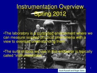 Instrumentation Overview Spring 2012