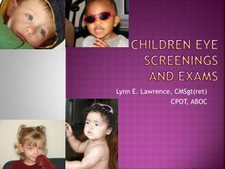 Children Eye Screenings  and Exams