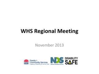 WHS Regional Meeting