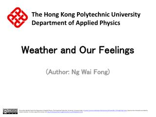 Weather and Our Feelings