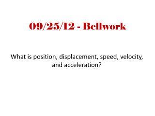 09/25/12 - Bellwork