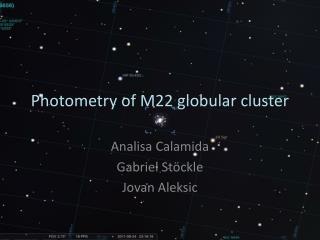 Photometry of M22 globular cluster