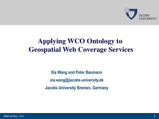 Applying WCO Ontology to  Geospatial Web Coverage Services