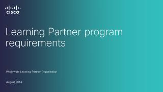 Learning Partner program requirements