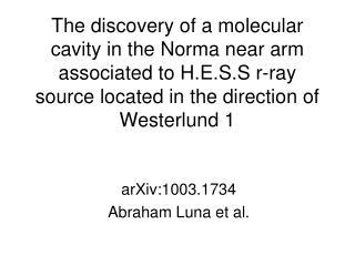 arXiv:1003.1734 Abraham Luna et al.