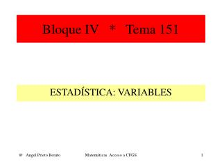 Bloque IV   *   Tema 151
