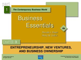 ENTREPRENEURSHIP, NEW VENTURES, AND BUSINESS OWNERSHIP