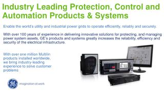 Industry Leading Protection, Control and Automation Products & Systems