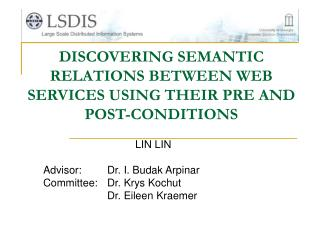 DISCOVERING SEMANTIC RELATIONS BETWEEN WEB SERVICES USING THEIR PRE AND POST-CONDITIONS