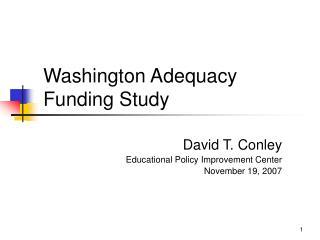 Washington Adequacy Funding Study