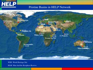 Pristine Basins in HELP Network