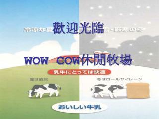 歡迎光臨 WOW COW 休閒牧場